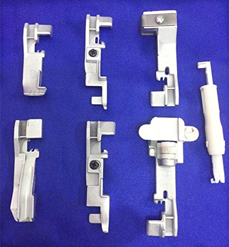 yeqin (TM) coser Serger juego de 6pies prensatelas para Singer 14cg75414SH65414SH75414hd85414U55514u557+ aguja enhebrador