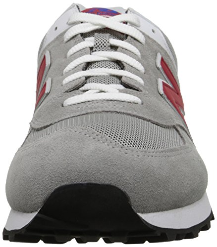 New Balance ML574 D, Baskets Basses Homme Gris (mox Grey/red)