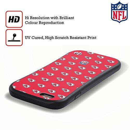 Ufficiale NFL LED 2017/18 Kansas City Chiefs Case Ibrida per Apple iPhone 6 Plus / 6s Plus Pattern
