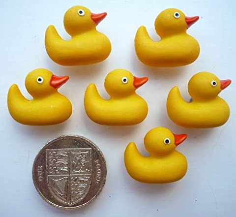 Rubber Ducks - 6 Novelty Craft Buttons & Embellishments by Dress It Up by Jesse James
