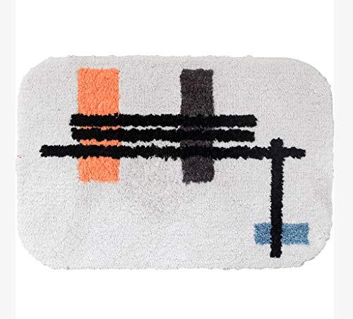HAOJUN *Bereich Teppich Badezimmer-Matten Einfache Rutschfeste saugfähige Pad Home Bad Türmatte Verdickung Teppich (Farbe : A, größe : 50cm*80cm) -