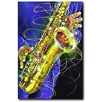 Jazz pintura para pared instrumentos Musicales Póster (24 ...