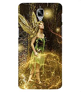 ColourCraft Beautiful Angel Design Back Case Cover for OnePlus Three