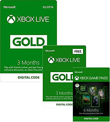 3 Months Xbox Live Gold + 3 Months FREE + 6 Months Xbox Game Pass | Xbox One - Download Code