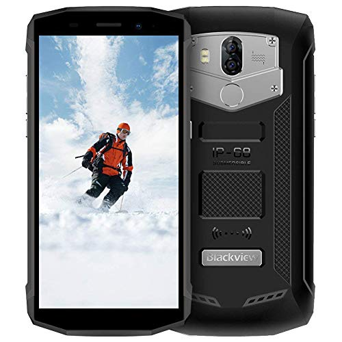 "Blackview BV5800 - Movil Resistente (Android 8.1 Oreo Smartphone, 2GB RAM + 16GB ROM, Batería 5580 mAh & 5A/2A Carga Rápida, 13.0MP + 0.3MP Dual Cámara Trasera, 5.5"" 18: 9 FHD, NFC, OTG) Negro"