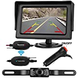 LeeKooLuu Wireless RC 12V - 24V Rear View Backup Camera and Mirror Monitor