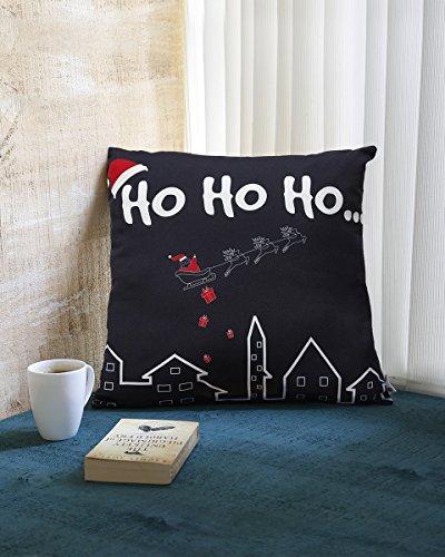 Store indya regali di natale, poliestere spun piazza tiro federe casi con chiusura a cerniera e stampati motivi di natale per la decorazione federa cuscini per divano estica divano letto