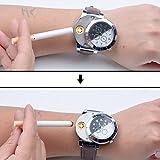 Ckeyin ® Reloj de Cuarzo con USB Electrónico Recargable a Prueba de Viento Encendedor sin Llama
