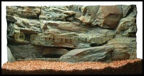 3D Aquarienrückwand 60x30 Rock