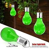 LED Hängende Lampe Kugel Solarleuchte für Outdoor Garten Party Dekoration, 5 LEDs Solarlampe, LED Solarkugel für den Garten zum Aufhängen (Grün)