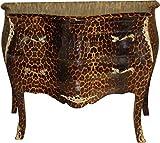 Casa Padrino Barock Kommode Leopard 106 cm Mod2 - Schrank Möbel