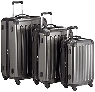 HAUPTSTADTKOFFER - Alex - Set of 3 Hard-side Luggages Trolley Suitces Expandable, (S, M & L), graphite (B00L2D2K84) | Amazon price tracker / tracking, Amazon price history charts, Amazon price watches, Amazon price drop alerts