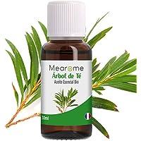 Aceite Esencial de Arbol de Té Puro 30 ml, 100% Natural y Bio | Trata el Acné Piojos Caspa Hongos Verrugas Problemas de Piel | Ideal para Humidificador Ultrasónico Aromaterapia | Fabricado en Francia