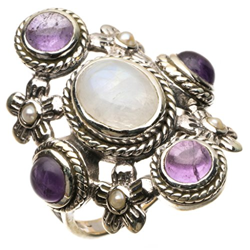 stargemstm-natural-rainbow-moonstone-and-amethyst-925-sterling-silver-ring-uk-size-q