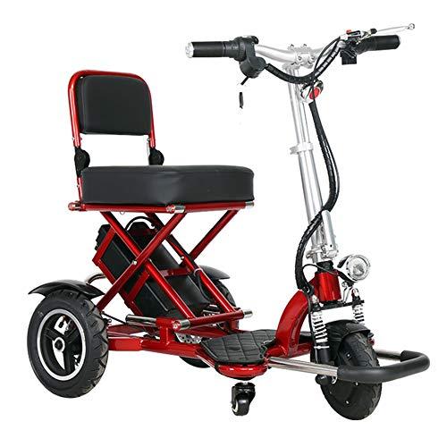 KSITH Faltendes Elektrisches Dreirad, ältere Mini Tragbare Roller-untaugliche Lithium-Batterie Mit Hellem Elektroauto LED (Von Flugzeugen Elektrischen Anlagen)