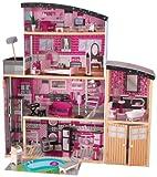 KidKraft- 65826 Casa Legno Sparkle Mansion per Bambole di 30 cm con 30 Accessori Inclusi e 4 Livelli di Gioco, Colore Rosa