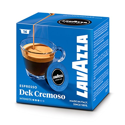 Purchase Lavazza A Modo Mio Coffee Capsules Dek Cremoso Pack of 16 by Lavazza