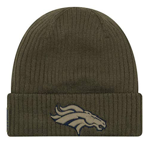 New Era Denver Broncos Beanie On Field 2018 Salute to Service Knit Green - One-Size