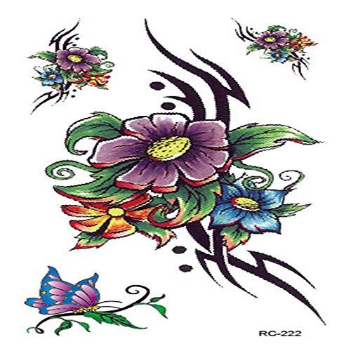 Persönlichkeit Mode farbelemente für männer und Frauen Tattoo Aufkleber Kinder Erwachsene Wasser Aufkleber 31 10,5x6 cm