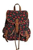 Premium Canvas Rucksack | Leinwand Rucksack | Damen/Mädchenrucksack | Freizeitrucksack | Backpack | einzigartiges Design | Top Qualität | angenehmer Tragekomfort (Erdbeer-Kirsche)
