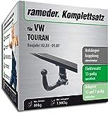 Rameder Komplettsatz, Anhängerkupplung abnehmbar + 13pol Elektrik für VW TOURAN (131188-04954-3)