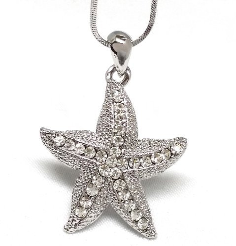 new-silver-toned-starfish-pendant-necklace-fashion-jewelry-by-importer520