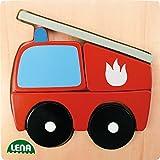 Lena 32081 - Holzpuzzle Feuerwehr mit 6 Puzzleteilen