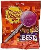 Chupa Chups Lecca Lecca The Best Of, Lollipop Frutti Assortiti Gusto Cola, Fragola, Arancia e Panna Fragola, 6 Confezioni da 10 Lollipops Monopezzi