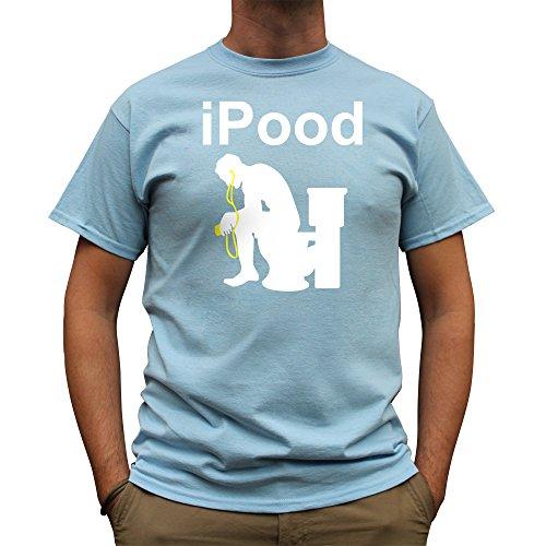 Nutees Herren Ipood Joke Funny Festival Gamer T Shirt Licht Blau XXLarge - Gamer Licht T-shirt