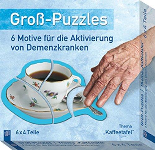 """Groß-Puzzles: 6 Motive für die Aktivierung von Demenzkranken: Thema """"Kaffeetafel"""""""
