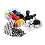 Aufbewahrungsbox (3 stück) - Acryl Tisch Oben Aufbewahrungstablett zum Aufbewahrung Make-Up/Kosmetik, Kunst & Bastel Produkten - Kosmetik Organizer - Bastel Aufbewahrungsbox