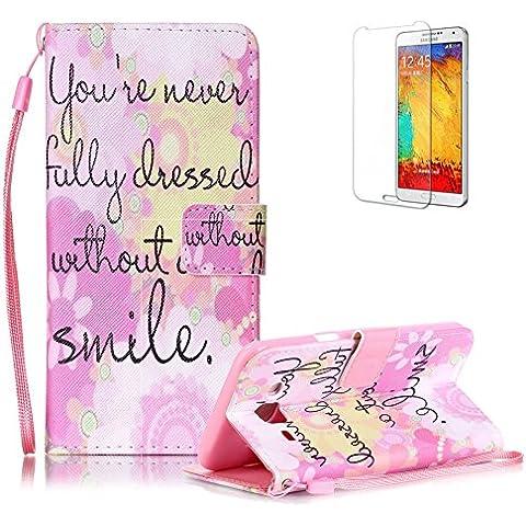 Custodia Samsung Galaxy J5 2016 in Pelle,Funyye Smile Disegni Elegante