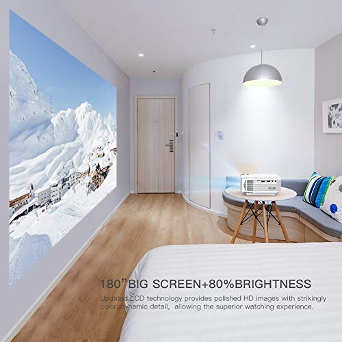 """51XBWYYbqzL. SS500  - APEMAN Projector Portable Mini Projector 5500 Lumens [2021 Upgraded] Support 1080P Max 180"""" Display LCD Home Cinema Projector 50000 Hour Life HDMI, VGA, USB, SD, AV Input Chromecast Compatible"""