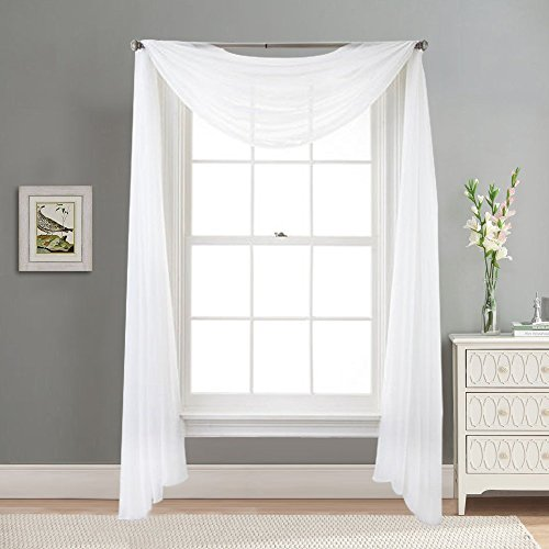 Voile Scarf Sheer Curtain Panel ...