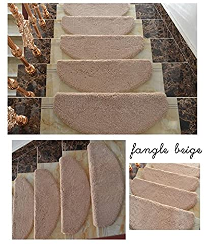 High Grade Stair Carpet Solid Wood Non Slip Step Pad Glue Free Self-Adhesive , Coffee Color , 65*24*3Cm,coffee color,65*24*3cm
