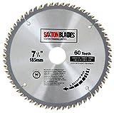 TCT18560T Saxton TCT Lame de scie circulaire à bois 185 x 30 mm x alésage x 60...