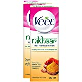 Veet Nikhaar Hair Removal Cream For All Skin Types - 25 G (Pack Of 2)