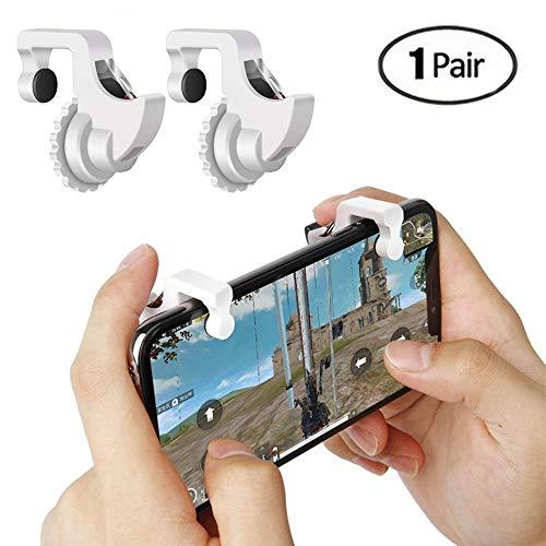 Teepao Controlador de Juegos Móviles Sensitive Botones Argonomic Fire And Aim para PUBG/L1R1/Fortnite/Reglas de Survial/Knives Out,Juego de Disparos Joysticks Auxiliares para Android IOS Smartphones