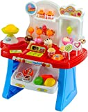 #9: Smartcraft Luxury Supermarket Shop - Blue, Candy Sweet Shopping Cart, Ice Cream Supermarket Role Playset Toy for Kids