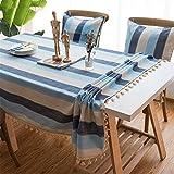 Stripe Imperméable Table De Cuisine Nappe De Toile Nappe Rectangulaire Nappe De Table Housse pour Table A 90x90cm