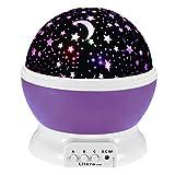 Ultra® estrellas color púrpura del cielo proyector lámpara de luz nocturna para niños dormitorios bebés niños