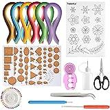 TUPARKA 15 PCS Kits Papel Colores para Filigranas con 29 Colores 600 Tiras de Quilling Papel DIY Herramientas Quilling