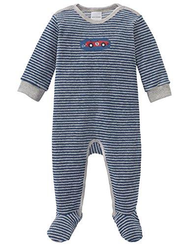 Schiesser Jungen Grand Prix Baby Anzug mit Fuß Zweiteiliger Schlafanzug, (Blau 800), 86