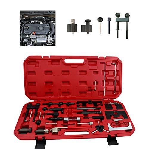 wolketon Motoreinstell Werkzeug Motor Einstellwerkzeug Arretierwerkzeug Zahnriemen Werkzeug Satz Motor-Einstellwerkzeug für Audi VW Steuerriemen