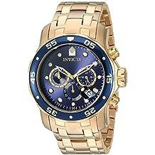 Invicta 0073 Pro Diver - Scuba Reloj para Hombre acero inoxidable Cuarzo  Esfera azul afa50ef172cf