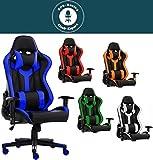 SPS-Racing King Bürostuhl Chefsessel Drehstuhl Schreibtischstuhl Gaming Zocker Stuhl Office Chair (Schwarz/Weiss)