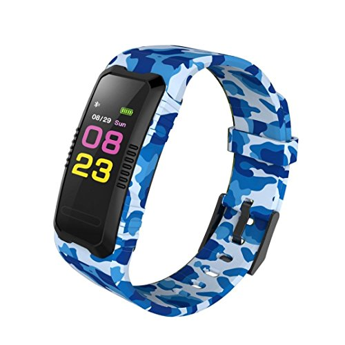 sunnymi Smart Watch Multifunctional Adult Boys And Girls Student Children's Electronic Watches, Outdoor Watches, Cycling Watches Sport GPS Heart Rate Blood Pressure Bluetooth (Sky Blue)
