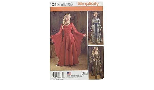 Simplicity 1045 Größe HH Schnittmuster Fantasy Kostüme Schnittmuster ...