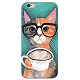 SecondDromi Gafas de sol lindas Gafas de gato Silicona de patrón funda para iPhone 5C,Naranja