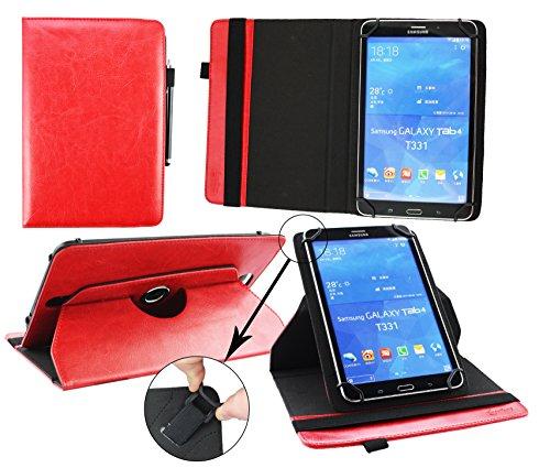 Emartbuy® AlpenTab Heidi 7 Zoll Tablet PC Universal ( 7 - 8 Zoll ) Rot PrämiePULeder360GradrotierendeStandFolioGeldbörseTascheHülle + Rot Eingabestift